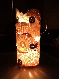 Lace and Button lantern