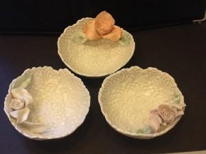Small Rose Trinket Bowls